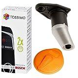 SPARES2GO Orange Service Scheibe, Piercing Jet & Entkalker Set für Bosch Tassimo T5 Charmy Kaffeemaschine