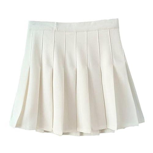 46bb793df9 Women School Uniforms Plaid Pleated Costume Mini Skirt