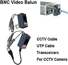 PENG 1 par BNC a RJ45 pasivo Video Power Audio Balun Transceptor para c/ámara CCTV