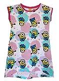 DESPICABLE ME MINIONS Mädchen Charakter Nachthemd, Nachthemd, T-Shirt, Top, Nachthemd Cupcake und Sterne Muster (Minions - Sterne, 6 Jahre)