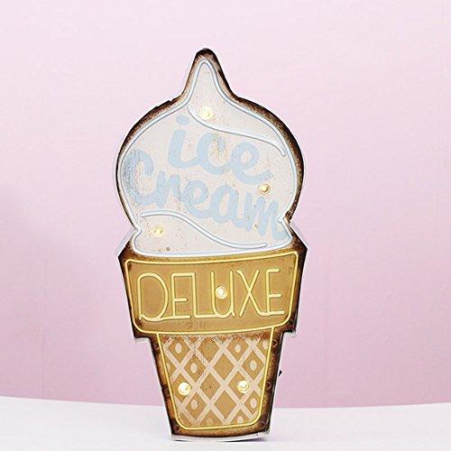 LAOHAO LED Nordic Vintage Ice Cream Modeling Aplique de Pared Indicador Lámpara...