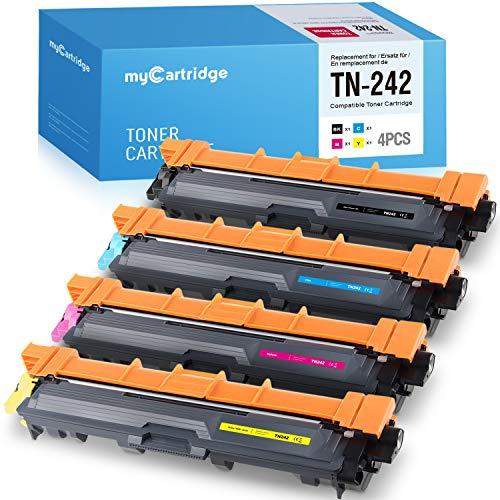 MyCartridge Kompatibel Brother TN-242 TN242 Toner für Brother MFC-9332CDW DCP-9022CDW DCP-9017CDW HL-3152CDW HL-3142CW Drucker