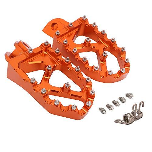 JFG Racing Motorrad breite Fußrasten Pedale Fußrasten für K.T.M 65-1290 SX SXF EXC EXCF XC XCF XCW SMC SUPER Moto Enduro Adventure Freeride 98–20 (Orange)