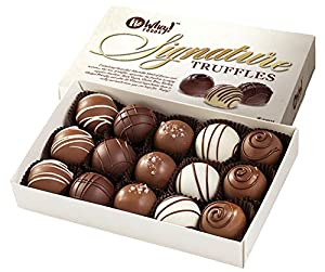 """The Signature Truffle Collection includes a variety of five delicious flavors: """"Milk"""" Fudge, Raspberry, Coffee, Salted Caramel, and Grand Marnier This Allergy Friendly product is made in a dedicated facility free from the common top 8 food allergens ..."""