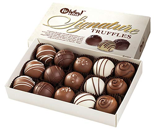No Whey Foods - Chocolate Truffle Collection (15 Pieces) - Vegan, Plant Based, Gluten Free, Dairy Free, Nut Free, Peanut Free, Soy Free