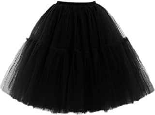 Adult Ballet Tutu Layered Organza Lace Mini Skirt Women's Princess Petticoat for Prom Party