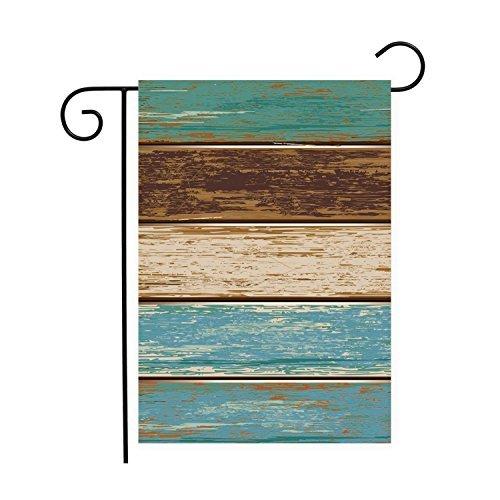 PeteGray planchettes en bois rustique Jardin Maison de drapeaux décoratifs Drapeau double face Yard Drapeau Bannière drapeaux de vacances Décorations de fête pour l'extérieur 12 x 18