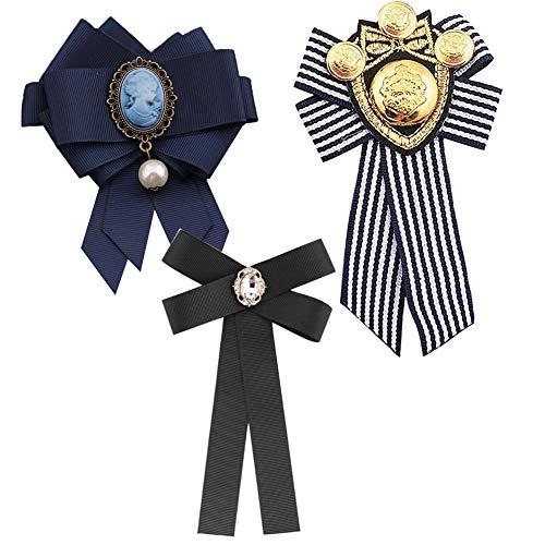 3 Piezas Broches para Mujer Pin Broche de Perlas Broche de Lazo...