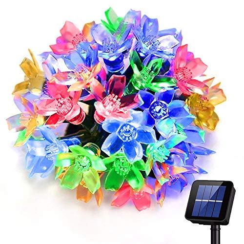 Catena Luminosa Solare, 39ft 100 LED Luci stringa solare, 8 modalità Luminosa Esterno, luci fiabesche a energia solare a fiori impermeabili, Decorazione per Natale, Giardino, Matrimonio, Festa