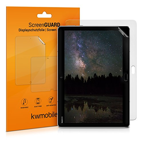 kwmobile 2X Folie kompatibel mit Huawei MediaPad M3 Lite 10 - Full Screen Tablet Schutzfolie entspiegelt