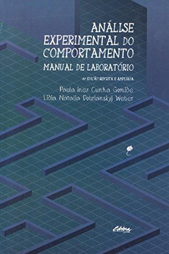 Análise experimental do comportamento: Manual de laboratório