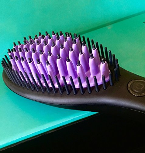 Brush Electric Ceramic, Straightening Ceramic Brush Electric, Brush Electric Pro Automatic Paddle, Brush Hair Straightener Ceramic