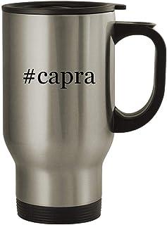 #capra - 14oz Stainless Steel Travel Mug, Silver