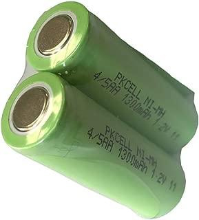 4/5AA Size 1.2V 1300mAh NiMH Rechargeable Battery Flat Top 2Pcs