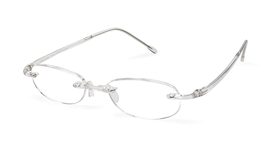 Gels - Lightweight Rimless Fashion Readers - The Original Reading Glasses for Men and Women - Crystal Clear