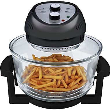 Big Boss Oil-less Air Fryer, 16 Quart, 1300 watt, Black