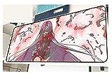Tapis de souris anime 3D avec une surface unique, une paroi arrière en caoutchouc étanche et un tapis de table antidérapant - Jeanne d'Arc-4_900 * 400 * 3