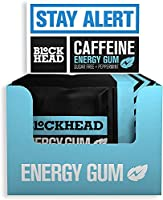 Gomma da masticare energetica alla menta piperita Blockhead (confezione da 120) | Gomma da masticare nootropica alla...