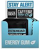 Gomma da masticare energetica alla menta piperita Blockhead (confezione da 120) | Gomma da masticare nootropica alla caffeina | Vitamine B1, B6 e B12 | Ginseng | Senza zucchero | Senza calorie