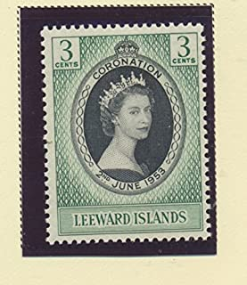 Leeward Island Scott #132 - Queen Elizabeth II Coronation, British Commonwealth Common Design Issue From 1953 - Collectible Postage Stamps