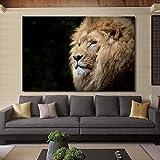 SADHAF Animal póster e impresión mural arte lienzo pintura león imagen living Decoración del hogar decoración pared A5 60x90cm