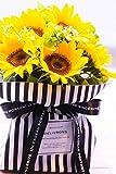 夏のご挨拶 お祝い 自立するひまわりの花束 ラッピング外さずそのまま飾れちゃうブーケ 生花 ギフト 夏 サマーギフト ヒマワリ 向日葵 誕生日 お見舞い お中元 primeお急ぎ便 (10本, Mサイズ)
