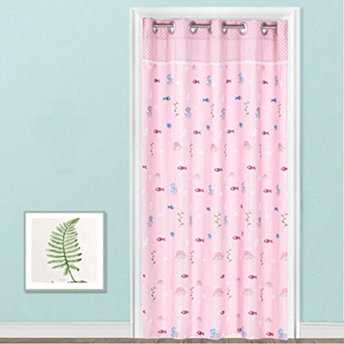 Liuyu · Maison de Vie Tissu Porte Rideau Baie Fenêtre Chambre Cuisine Couper Long (Couleur : Rose, Taille : 180 * 200cm)
