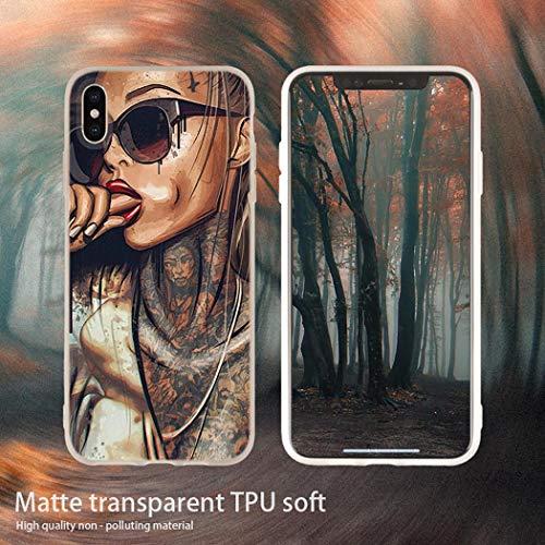 Aestgirl iPhone Hülle für Frauen Silikon Soft Cover für iPhone X XS Max XR 6 6S 7 8 XS XR Sexy Sleeve Tattoo Girl AC211, for XS Max, Gray Tattoo