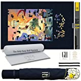 """GRATEFUL HOUSE Premium Quality Large Wool Blend Felt Jigsaw Puzzle Mat Roll Up 2000 Pieces 30"""" x 48"""" Superior Surface.No Creases. Great Puzzle Storage and Puzzle Saver."""