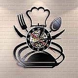 CVG Tenedor Retro Cuchillo y Cuchara Cocina Arte de Pared Reloj de Pared Cubiertos Diseño Comedor...