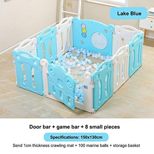 DGYAXIN Baby Laufstall Kids Activity Center Sicherheitsspielplatz Home Indoor Outdoor (Mehrfarbig, Classic Set 12 Panel),150 * 130cm