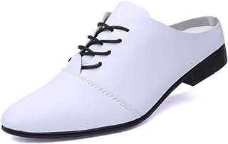 CAIFENG Les Oxfords sans Dos des Hommes Glissent sur des Chaussures de meufeur Rond de Lacets à Lacets mutuelles fermées à...