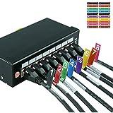 AIXONTEC 100 Kabelfahne Cable Flag selbstklebend Kabeletiketten Wickeletiketten Kabel Label Mehrfarbig & nummeriert Kabelmarker bunt 20 Etiketten pro Kabeletikettbogen Datenkabel Organizer