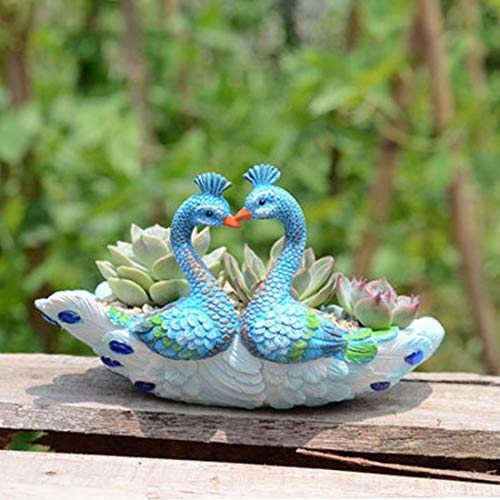 zyfun Mini Maceta Maceta diseño Pavo Real Forma de cerámica suculent