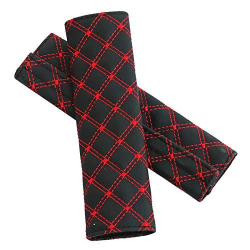 Accesorio De La Cubierta del Protector del Hombro De La Comodidad del Cinturón De Seguridad del Automóvil, Tipo Celosía,Rojo