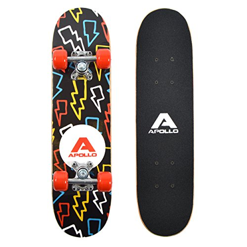 Apollo Kids Skateboard Flash, Piccolo Skateboard per Bambini, 24' / 61 cm di Lunghezza