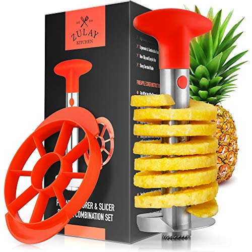 Zulay Pineapple Corer and Slicer Tool Set