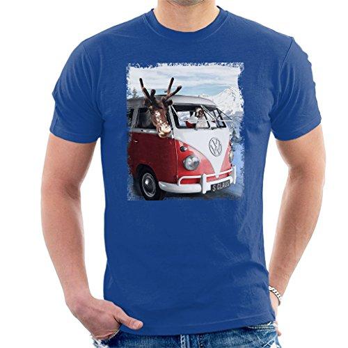 Volkswagen Santa and Reindeer T1 Camper Van Men's...