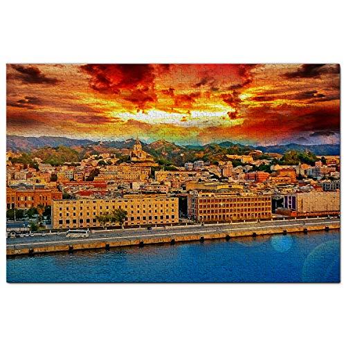 Italia campanario y Reloj astronómico Messina Puzzle 1000 Piezas para Adultos Familia Rompecabezas Recuerdo Turismo Regalo