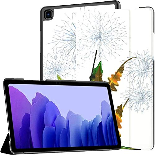 Samsung A7 Tablet Case Six Faded Dandelions Different Colourful Leaves Case For Samsung Galaxy Tab A7 10.4 Inch 2020 Release Protective Case Samsung Galaxy A7 Case Cover Tablet Pu Leather Case