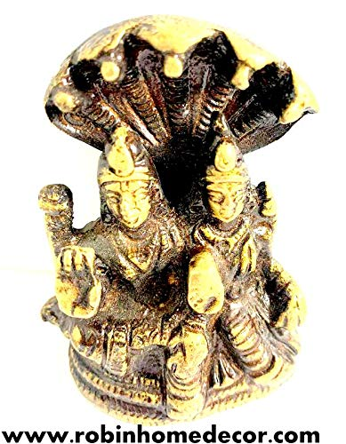 Robin Exports Lord Shiva Parvati with Sheshnag Religious Home Decor Puja Home Office Temple Decoration