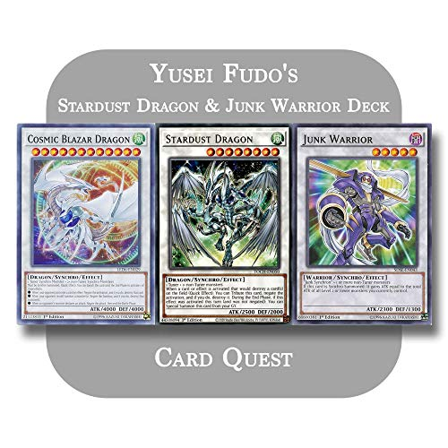Yu-Gi-Oh! 5D's - Yusei Fudo's Complete Stardust Dragon & Junk Warrior Synchro Deck
