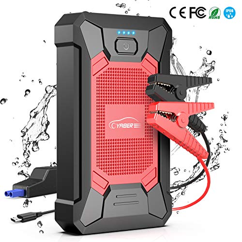 YABER Arrancador de Coches 12000mAh, 800A IP66 Impermeable Emergencias-Upgrade