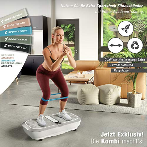 Sportstech Profi Vibrationsplatte VP300 mit 3D Wipp Vibrations Technologie - 5