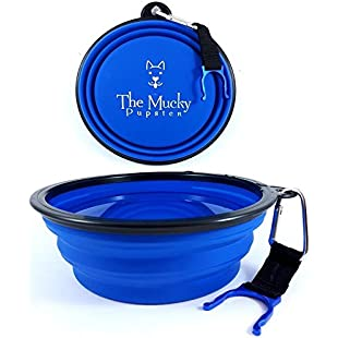 Customer reviews Mucky Pupster - Collapsible Travel Dog Bowl - Now With A Water Bottle Holder