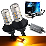 Syneticusa 3157 Error Free Canbus Ready Yellow/Amber LED Front/Rear Turn Signal Light Bulb...