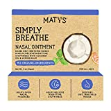 Maty's Simply Breathe Nasal Ointment – Petroleum Free, Helps Relieve Dry, Irritated Noses & Nighttime Stuffiness – .5 oz.