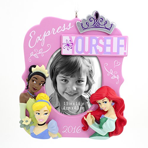 Hallmark 2016 Disney Princesses Photo Holder Holiday Ornament