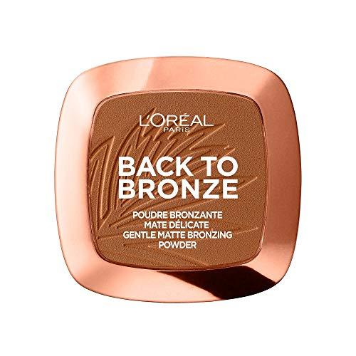 L'Oréal Paris Back to Bronze Gentle Matte Bronzing Powder, Bronzer mit mattem Finish, für einen natürlich gebräunten Look