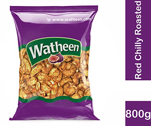 Watheen Special Red Chilly Garlic Roasted Cashew Nuts 800g